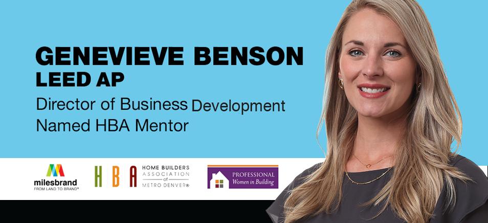 Milesbrand Business Development Director, Genevieve Benson, LEED AP, Named HBA Mentor